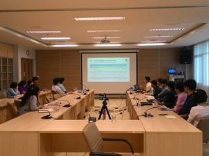 การประชุมรายงานผลการดำเนินโครงการประจำปีงบประมาณ 2557 ณ สถาบันบัณฑิตศึกษาจุฬาภรณ์